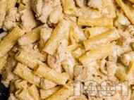 Рецепта Пиле с паста и сос Алфредо в уред за бавно готвене